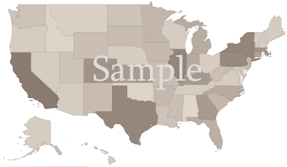 U.S. map by state